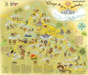 Map borobodur