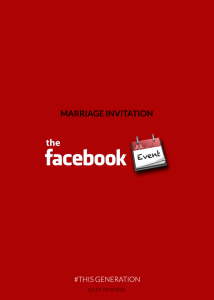 This Generation marriage invitation